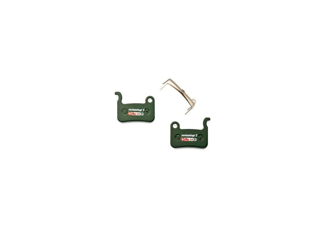 Brzdové destičky Swissstop sintrované pro Shimano XTR BR-M975, BR-M966, XT BR-M775, BR-M765, LX BR-M585, Deore BR-M535, Saint, Hone, SLX  BR-M665, TRP Dash